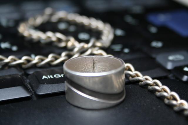 ring lying on keyboard